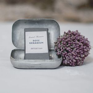 Rose Geranium Artisan Soap - bathroom