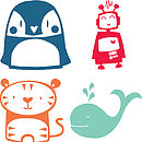 Penguin, Robot, Tiger and Whale options