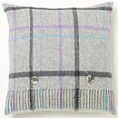 Grey Pastel Windowpane Cushion