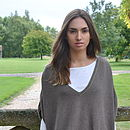 Reversible Poncho Sweater