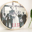 Bespoke Cotton Hand Embroidered Photo Hoop
