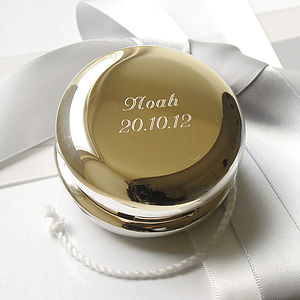 Nickel Plated Yoyo - personalised baby gifts