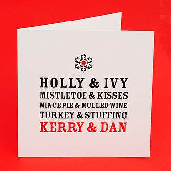 Personalised Perfect Together Christmas Card