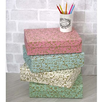 Recycled Floral A4 Storage Box