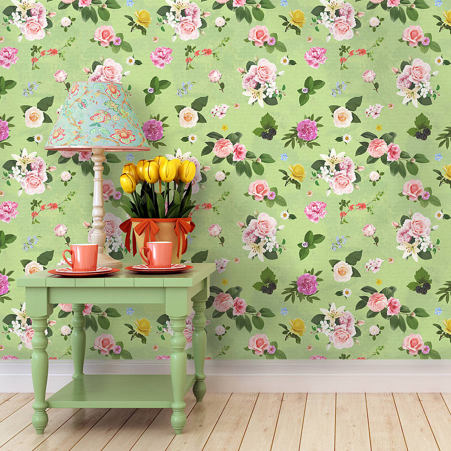 self adhesive wallpaper self adhesive green floral wallpaper by oakdene 30524
