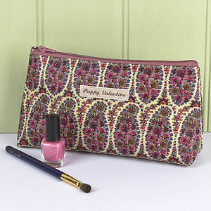 Make Up Bag Liberty Print Oilcloth - make-up & wash bags
