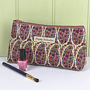 Make Up Bag Liberty Print Oilcloth