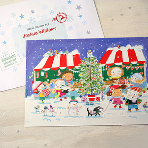 Market Advent Calendar And Envelope - view all decorations