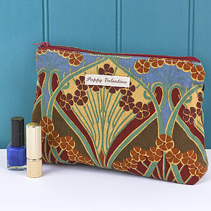 Make Up Bag Cranberry Vintage Liberty Print - mother's day gifts