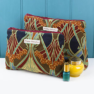 Washbag & Cosmetic Bag Set Liberty Cranberry - make-up & wash bags