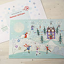 Snow Scene Advent Calendar And Envelope