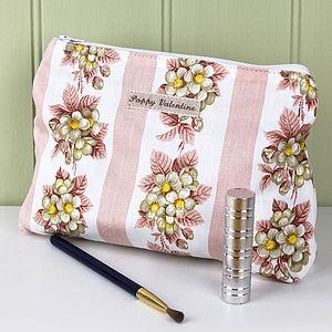 Make Up Bag Pink Stripe - make-up & wash bags