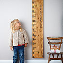 'Kids Rule' Mid Oak Wooden Ruler Height Chart