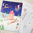 Santa In Sleigh Advent Calendar And Envelope