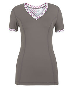 Hertford Dotty Polka Flash Top - lounge & activewear