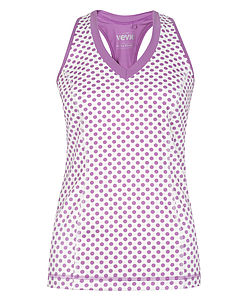 Hertford Dotty Polka Racer Back Top - lounge & activewear