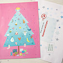 Pink Tree Advent Calendar And Envelope