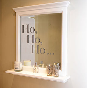 'Ho, Ho, Ho' Christmas Wall Stickers - bedroom