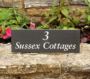 Personalised Slate Name Sign - garden sale