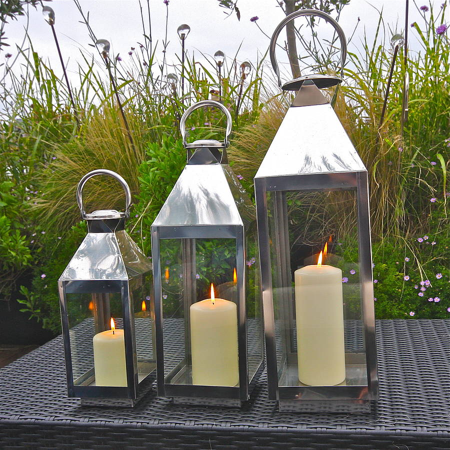 Outdoor lanterns for weddings notonthehighstreet st mawes hurricane garden lantern lights lanterns aloadofball Images