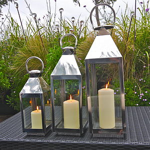 St Mawes Hurricane Garden Lantern - outdoor decorations