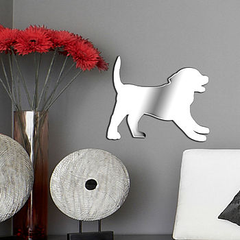 Puppy Nursery Wall Sticker Mirror