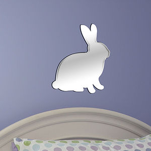 Rabbit Nursery Wall Art Mirror - mirrors