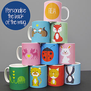Personalised 'Animal Mug' Plastic Or Ceramic - kitchen