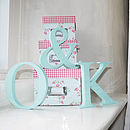 Duck Egg Blue Personalised Wooden Letters