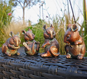 Four Little Mice Sculptures - art & decorations