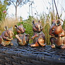 Four Little Mice Sculptures