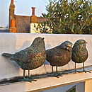 Three Little Bird Garden Figurines