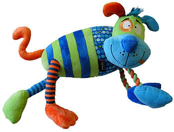 Confused Creatures Cog Plush Rope Dog Toy