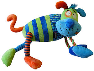 Confused Creatures Cog Plush Rope Dog Toy - dogs
