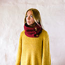 Wine Red Organic Cotton Cowl