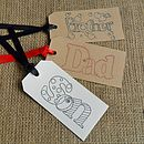 Two 'Dad', 'Son' Or 'Brother' Gift Tags