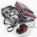 Gift Box Of Chocolates Filled With Brownies