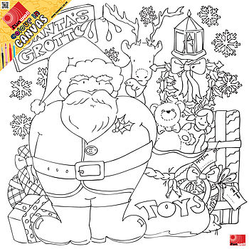 Junior Christmas Colour In Canvas