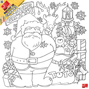 Colour In Christmas Canvas