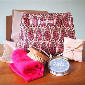 Luxury Women's Gift Set With Liberty Wash Bag - bathroom