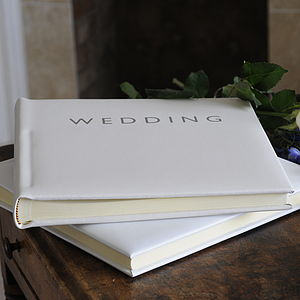 Leather Wedding Photo Album - shoreline wedding trend