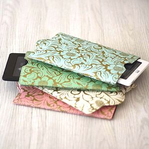 Recycled Floral Kindle Or Kobo Sleeve - bags & purses