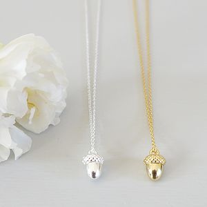 Acorn Charm Necklace - women's jewellery