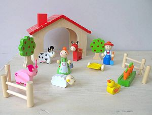 Wooden Farm Set - traditional toys & games