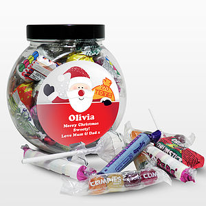 Personalised Santa Sweet Jar - sweet treats