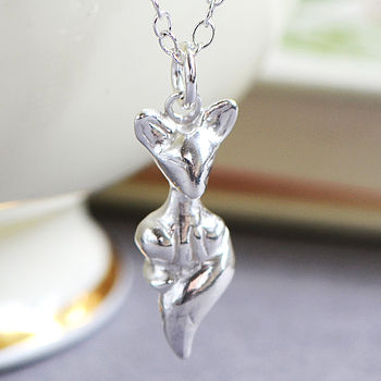 Fox Cub Sterling Silver Necklace