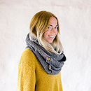 Grey Organic Cotton Scarf