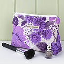 Make Up Bag Vintage Lilac Floral