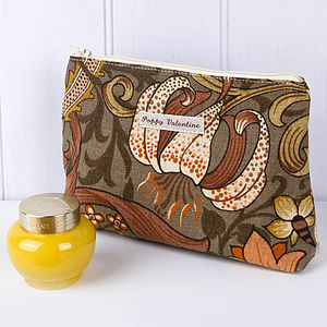 Make Up Bag William Morris Cacao Flower - beauty & pampering