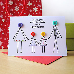 Personalised Family Christmas Card - cards & wrap